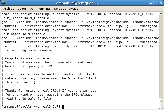 IRCDShells com ar - Instalacion Servidor IRC